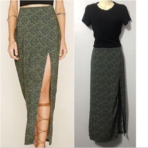 Forever 21 maxi skirt & crop tee bundle size L